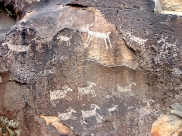 Petroglyphs in Rio Grande del Norte National Monument