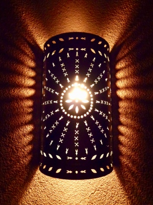 Light by Taos Tin Works at the Taos Inn in Taos, New Mexico