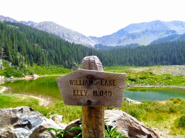 Williams Lake at the end of Williams Lake Trail in Carson National Forest