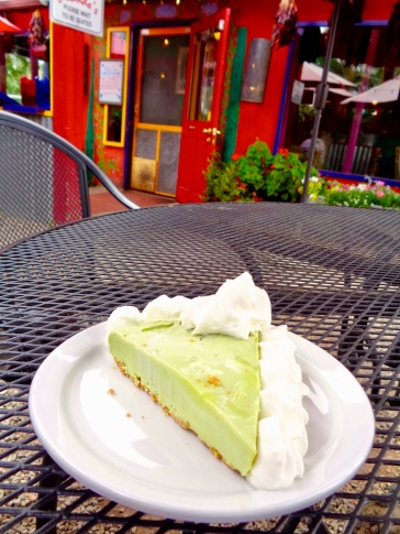 Frozen avocado lime pie at Orlando's New Mexican Cafe in Taos, New Mexico