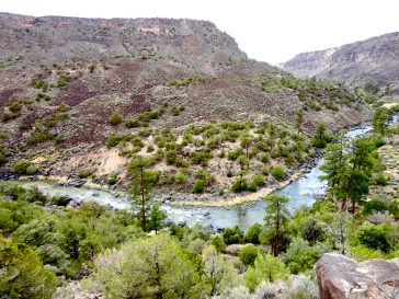 Hiking into the Rio Grande Gorge along Big Arsenic Trail in Rio Grande del Norte National Monument