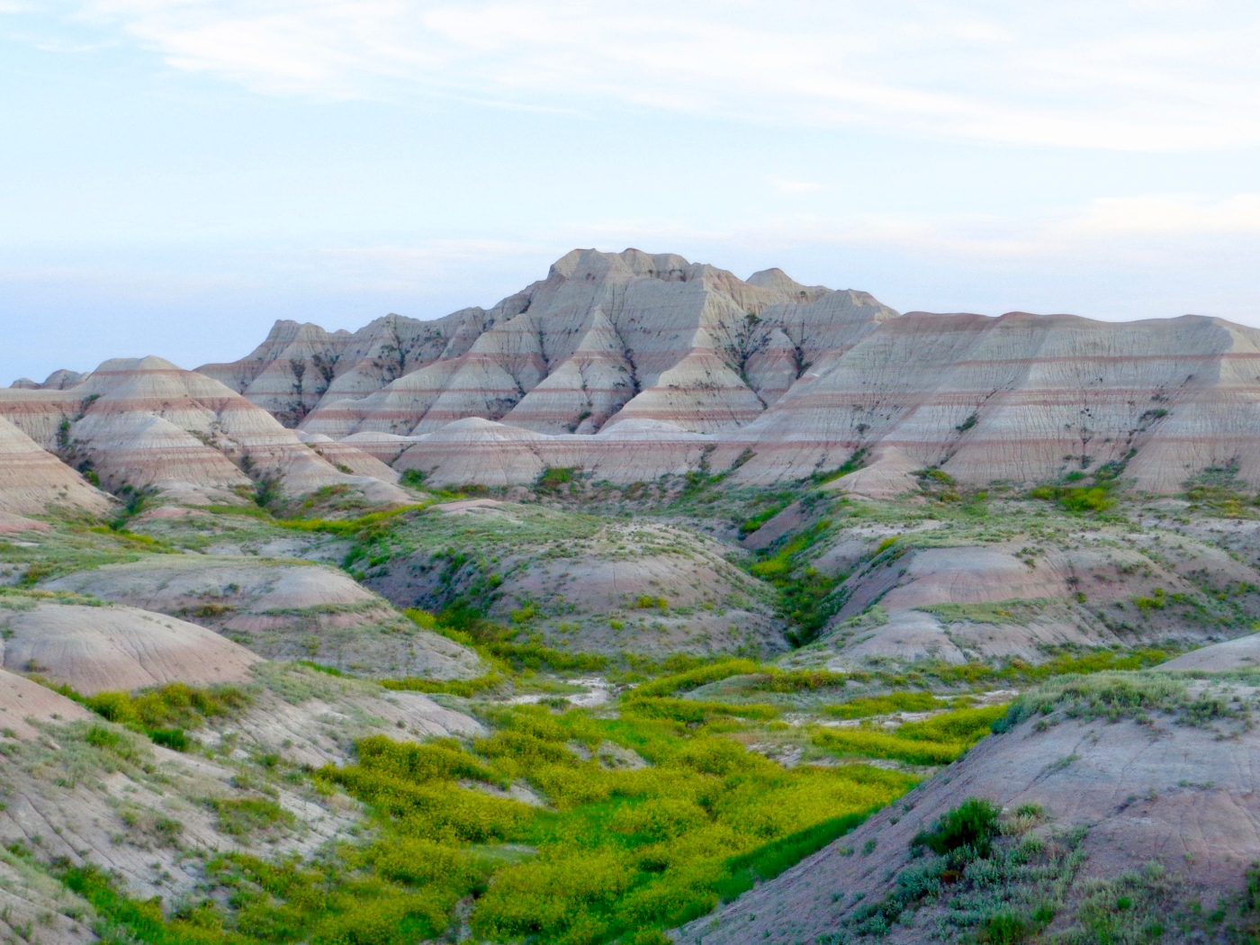 Sunset in Badlands National Park in South Dakota