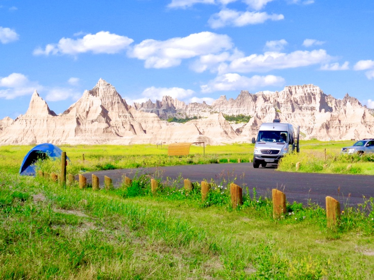 Cedar Pass Campground in Badlands National Park in South Dakota