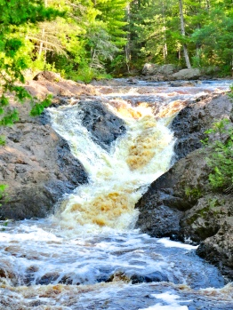 Waterfall in Amnicon Falls State Park in Wisconsin