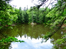 Brownstone Quarry Pond in Amnicon Falls State Park in Wisconsin