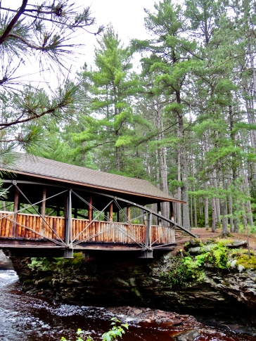 Horton Covered Bridge in Amnicon Falls State Park in Wisconsin