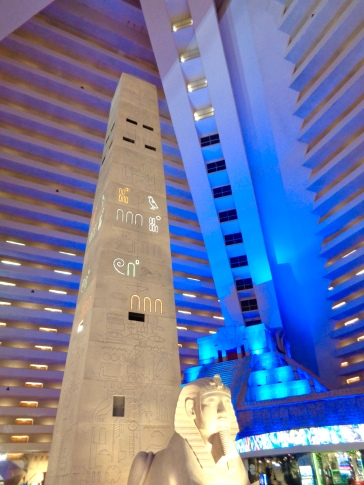 Interior of Luxor in Las Vegas, Nevada
