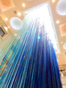 """Another Sky"" by Anne Patterson in the Waterfall Atrium at the entrance of the Grand Canal Shoppes in Las Vegas, Nevada"