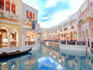 Canal in the Grand Canal Shoppes at The Venetian in Las Vegas, Nevada