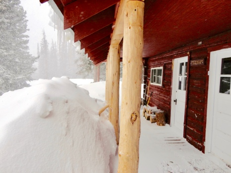 Little Brooklyn Guard Station in the Snowy Range in Medicine Bow National Forest in Wyoming