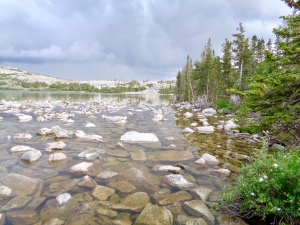 Lost Lake in the Snowy Range in Medicine Bow National Forest in Wyoming