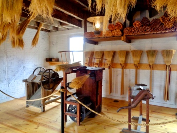 Broom-making exhibit at the Wyoming Territorial Prison State Historic Site