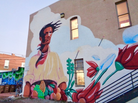 Tierra y Libertad by Talal Cockar for the Laramie Mural Project in Laramie, Wyoming